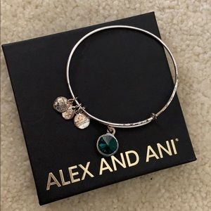 Alex and Ani emerald birthstone bracelet